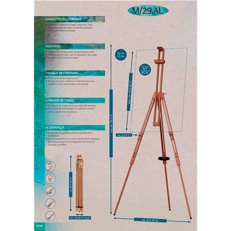 resistente e regolabile in verticale e orizzontale per PITTURA in Esterno o Interno o per ESPOSIZIONE Cavalletto in Legno Italiano