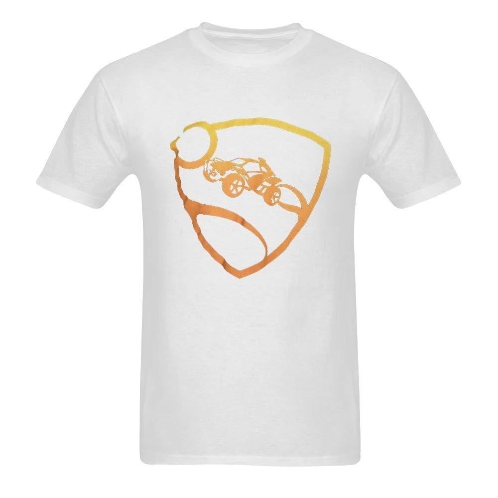igczobuxlwesk Rocket League Mens Orange PRO Glow Premium T-Shirt Sweatshirt