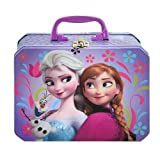 Disney Frozen Princess Elsa Anna & Olaf Deluxe Purple Tin Lunch Box