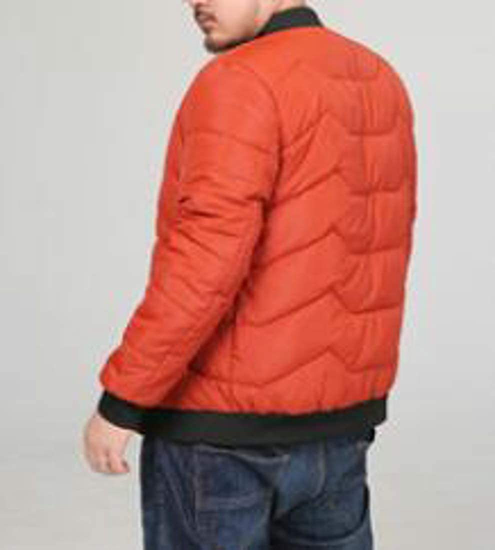Cromoncent Mens Big and Tall Winter Stand Collar Jacket Cotton Outerwear Parkas Coat