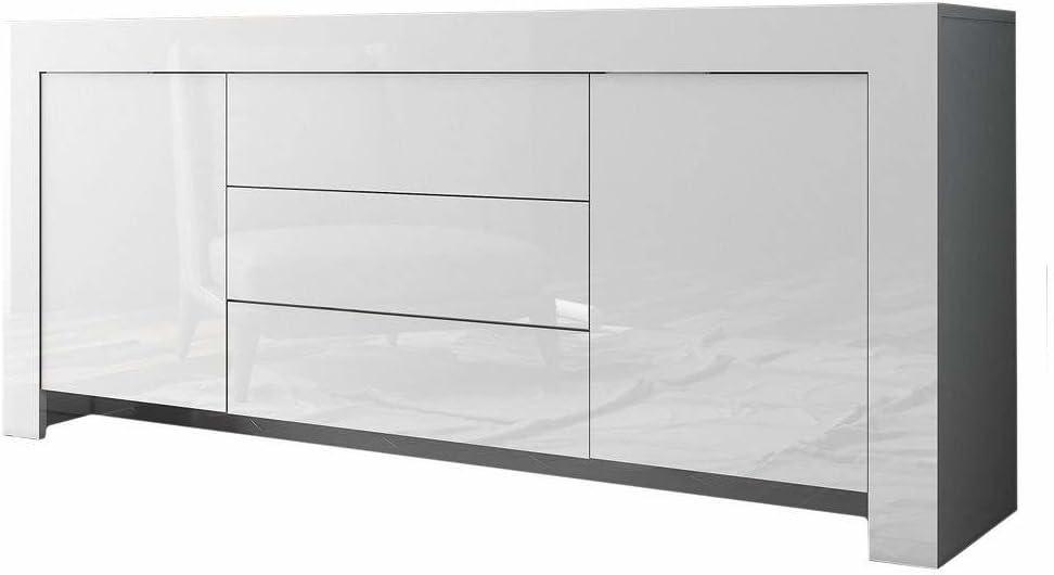 Lechnical Credenza Hill Range Bianco Mobile Laterale Armadio da Cucina Armadio Hall unit/à di vanit/à Mobile Base Legno di Pino massello 90/×40/×80 cm