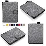 Bear Motion for Kindle 8th Generation Case - Premium Folio Case for All-New Kindle (8th Gen, 2016) - Gray with Imprint