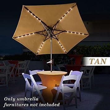 Solar Lights For Patio Umbrellas Gorgeous Amazon Strong Camel 6060ft Solar Light Patio Umbrella Tilt