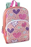 Toddler Kids PreSchool 15-inch Printed School Backpack, Hearts Bursting with Love