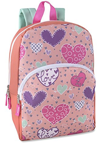 Toddler Kids PreSchool 15-inch Printed School Backpack, Hearts Bursting with Love by Bags in Bulk