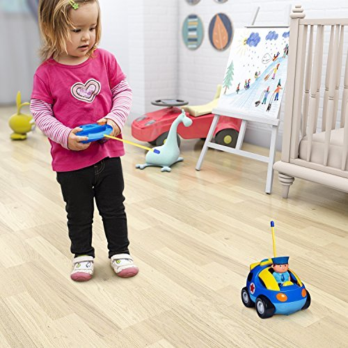 Toch Cartoon RC Race Car Train Toy for Kids Birthday Gift Present, Remote Control with Light Music Radio for Toddlers Baby Kids Child by Toch (Image #4)