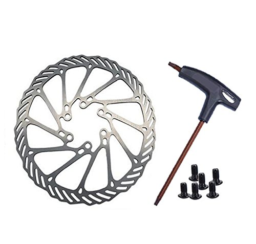 TFWDMX Mountain Bike Rotors G3 Bicycle Brake Disc Kit Stainless Steel Rotors 160mm with wrench - Brake Disc Sport Kit