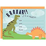 PAPER SOURCE // DELUXE BOXED STATIONERY // CHILDREN'S PARTY INVITATIONS // AWESOME DINOSAUR THEMED PARTY INVITES [KID,kids,invite,thank,correspondence,card,greeting]