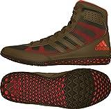 adidas Mat Wizard David Taylor Edition Men's Wrestling Shoes, Olive Green/Orange/Olive Green, Size 10