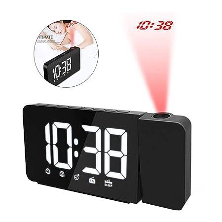 Proyección Despertador Retroiluminación LED Digital Radio FM ...