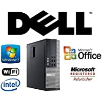 Optiplex Intel i5-QUAD Core 3.1GHz CPU 32GB DDR3 RAM NEW 2TB HDD Windows 7 Pro + MS Office WiFi DVD-RW SFF Desktop PC