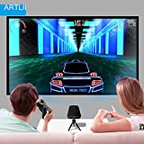 Home Video Projector, Artlii 1600 Lumens Pico Projector for Movie Laptop Smartphone iphone Mini Videoprojector