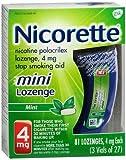 Nicorette Stop Smoking Aid Mini Lozenges 4 mg Mint - 81 ct, Pack of 2