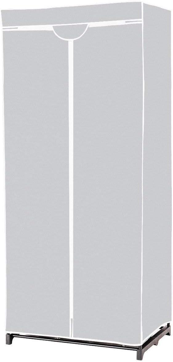 Caf/é COSTWAY Armoire de Rangement Penderie en Tissu Garde Robe avec /Étag/ères 75x50x170cm