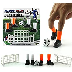 ZHUOJU Unisex Ideal Party Finger Soccer Match Toy Funny Finger Toy Game Sets with Two Goals (Multicolor)