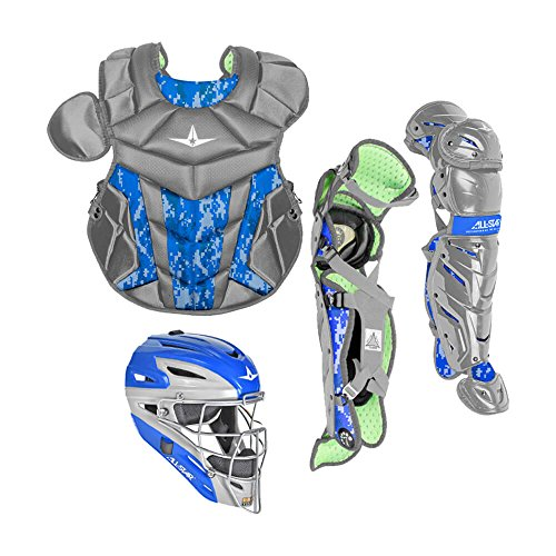 All-Star System7 Axis Camo Pro Catchers Set Grey/Royal -