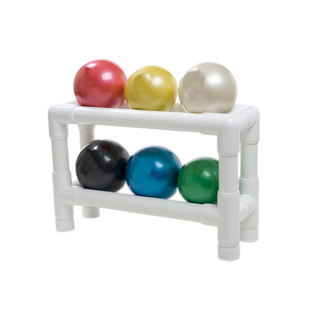 CanDo 10-3158 Thera-Band Soft Weights Ball Set with 2 Tier Rack, Tan/Yellow/Red/Green/Blue/Black by Cando