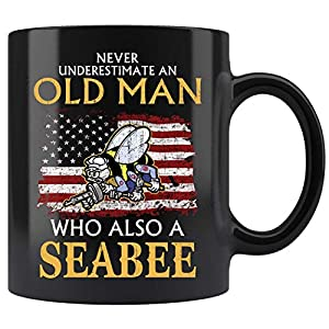 Navy Seabee Veteran Mug, Navy Veteran Mug Coffee Mug 11oz Gift Tea Cups 11oz