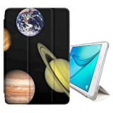 STPlus Solar System Planets Cover Case + Sleep/Wake Function + Stand for Samsung Galaxy Tab E Lite 7'' / Galaxy Tab 3 Lite 7'' (T110/T111/T113/T116 Series)