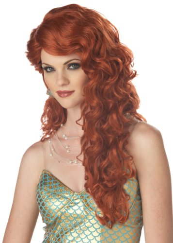 California Costumes Women's Mermaid Wig,Auburn,One Size -