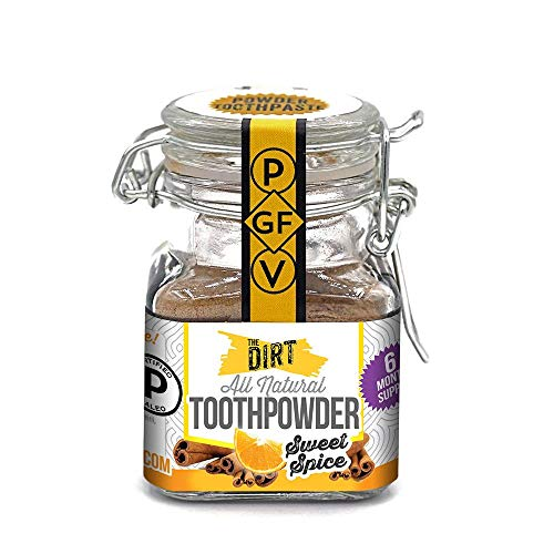 The Dirt All Natural Tooth Powders (Sweet Spice, Six Month Supply 51g)