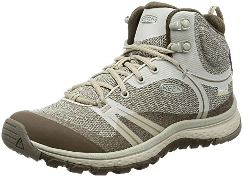 KEEN Women's Terradora Mid Waterproof Hiking Shoe, Silver Birch/Canteen, 8 M - Silver Canteen
