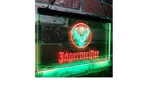 zusme Jagermeister Deer Drink Bar Novelty LED Neon Sign ...