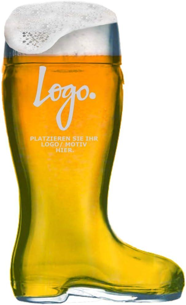 MeinGlas - Botas de cerveza (1 L, personalizables)