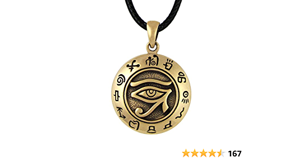 Egypt Accessory Eye of Ra Necklace Gifts for Him Knotted Ancient Egypt Ra Necklace Paracord Necklace Egyptian Gifts God Necklace