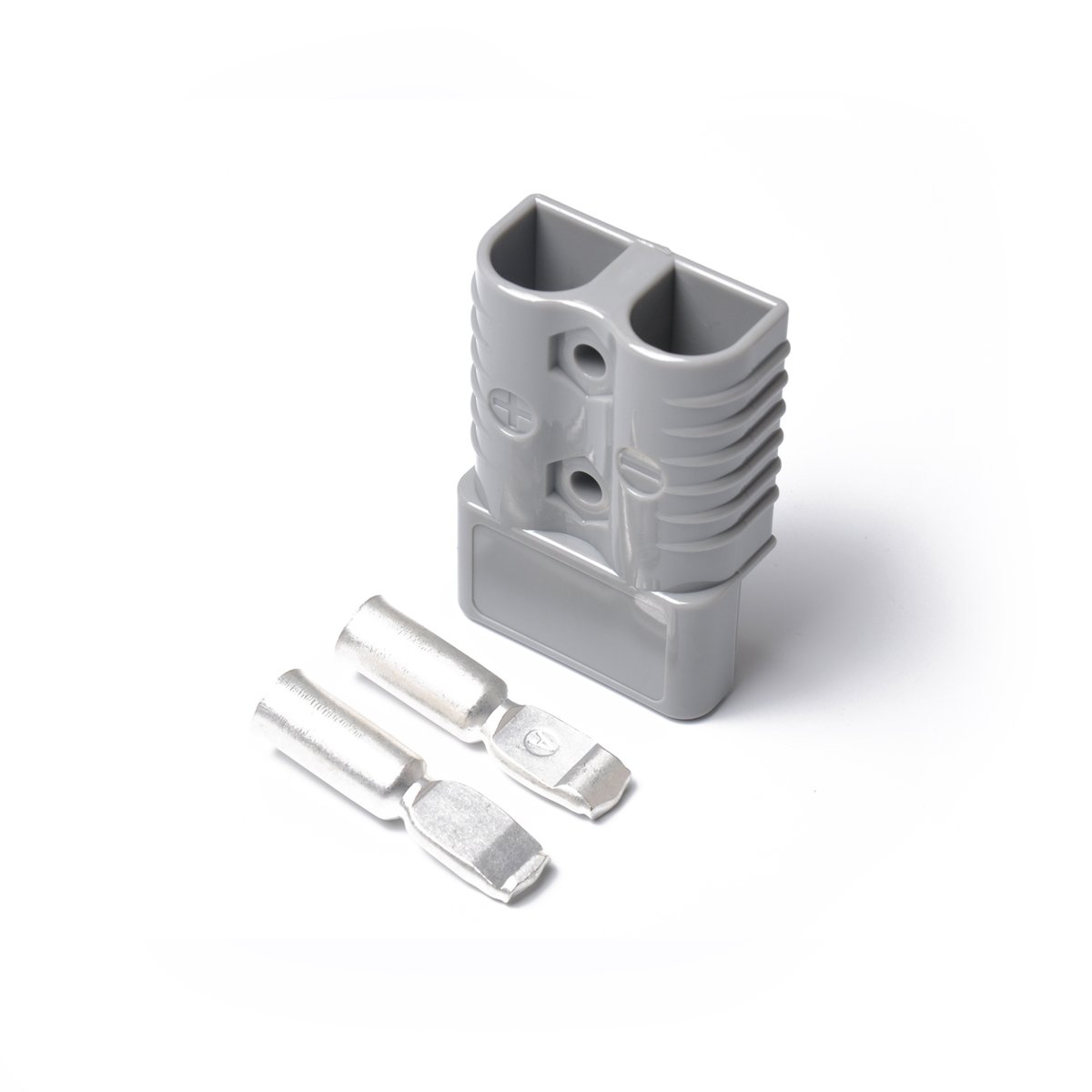 Gray WINOMO Trailer 175A 600V Anderson Style Plug Exterior Connector with 2 Contacts