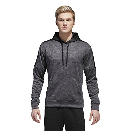 (adidas Men's Athletics Team Issue Full-Zip Fleece Hoodie, Dark Grey Heather Melange, Small)