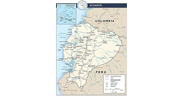 Amazon.com: Map Poster - Ecuador Transportation Map 18