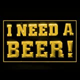 I Need A Beer Bar Pub Club Sex New Happy Hour Attractive LED Light Sign 170149 Color Yellow