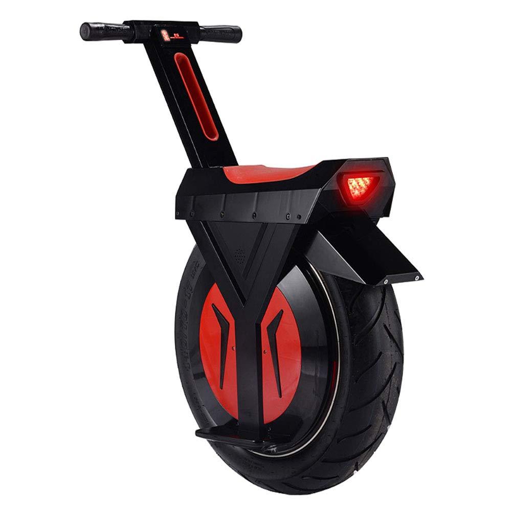 HOPELJ Monociclo Eléctrico, 500W 17 Pulgadas Sola Rueda Auto Equilibrio Monociclo con Altavoz Bluetooth, Scooter Eléctrico Unisex Adulto,Black,60km