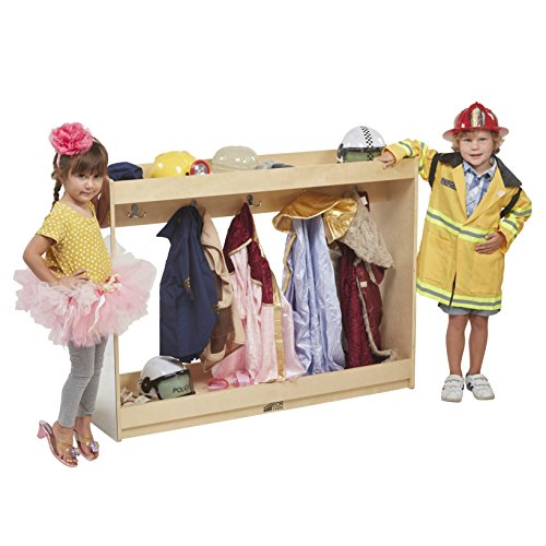 ECR4Kids Play Dress-Up Island with Coat Hooks and Mirrors -