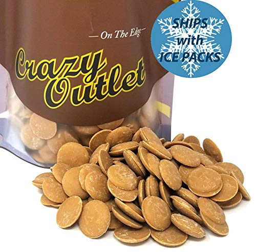 CrazyOutlet Pack - Peanut Butter Flavor Coating Wafers Candy, Melting Peanut Butter Candy Bulk Pack, 2 Lbs