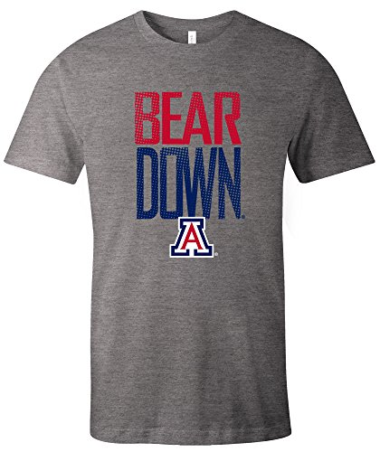 NCAA Arizona Wildcats Adult NCAA Dotted Phrase Short sleeve Triblend T-Shirt,Small,Grey -