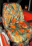Durafit Seat Covers, Kubota Orange Camo Seat Covers for tractor B2320,B2620,B2920,B3200,B7410,B7510,B7610,B7800,BX1850,BX2350,BX24,BX25,M5640,M7040