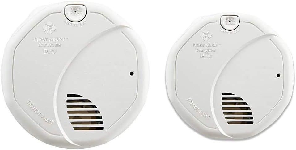 First Alert BRK 3120B Hardwired Smoke Detector & Dual-Sensor Smoke and Fire Alarm, Battery Powered, Frustration-Free Packaging, SA320CN
