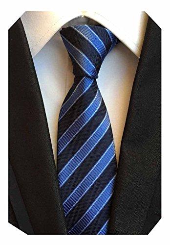 Yellow Striped Silk Necktie - 9