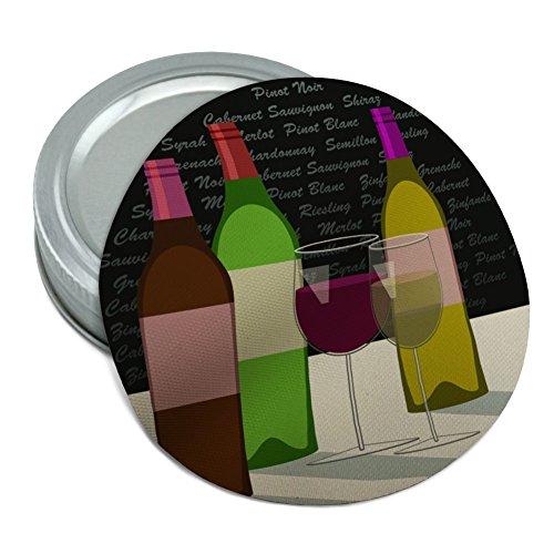 Wine Glasses and Bottles Merlot Shiraz Pinot Round Rubber Non-Slip Jar Gripper Lid Opener