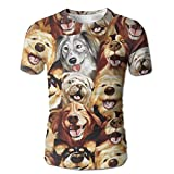 XIA WUEY Puppy Party MensNovelty Baseball Tshirt Graphic Tees Tops For Outdoor