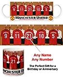 Manchester United FC Personalised Mug - Football Gifts