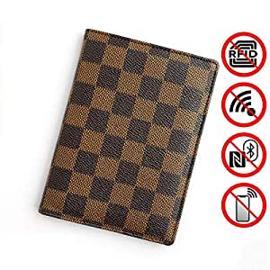 Deluxe Passport Jacket-PU Man-Made Leather RFID Travel Collection Card Bag