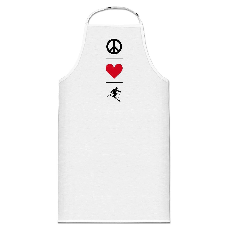 Peace Love Ski Kochschürze by Shirtcity