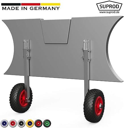 LD160 SUPROD Coppia Ruote di Poppa Nero//Blu per alaggio canotti Acciaio Inossidabile