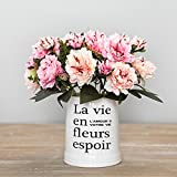 Felice Arts 2 Pack Artificial Peony Flower 10 Heads 11.3'' Fake Silk Peony Bouquet Flower for Room, Home, Hotel, Party Decoration and Holiday Gift-Pink