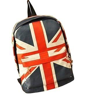 Lounayy USA Flag Teenager Mochila para Niños Mochilas De Verano Mochila Moda Mochila Escolar Vintage Casual Deportes De Lona USA UK Al Aire Libre Jack Union ...