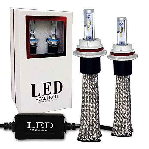 SoCal-LED 2X HB5 9007 Hi/Lo Fanless LED Conversion Kit 60W Bright 6000K Xenon White 12V-24V CSP Headlight Bulbs
