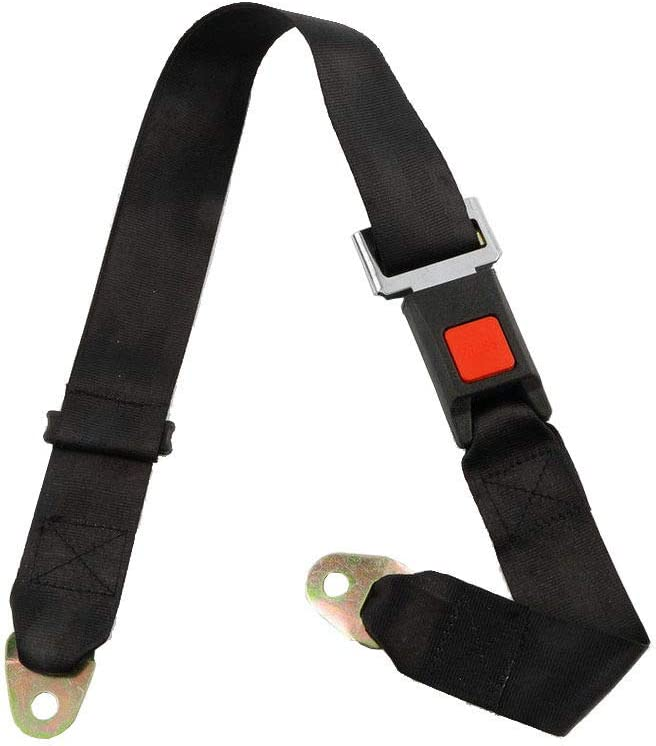 cicisame 2pcs Adjustable Seat Belt Car Truck Lap Belt Universal 2 Point Safety Travel
